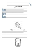 -Am Word Family Activities/Literacy Station Ideas