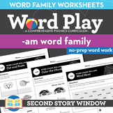 -Am Word Family Worksheets No Prep Short Vowel A Chunk Spelling