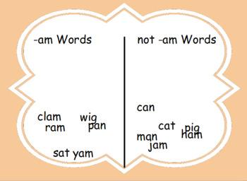 -Am words flipbook for activinspire