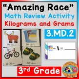 """""""Amazing Race"""" Math Review- Kilograms and Grams"""