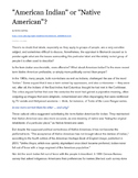 """""""American Indian"""" or """"Native American"""" Article Reading + q"""