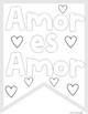 """""""Amor es amor"""" FREE Coloring Banner"""