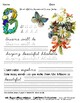 """""""An Elegant Floral Alphabet"""" Cursive to Trace and Copy"""