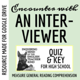 """""""An Encounter with an Interviewer"""" by Mark Twain - Quiz & Key"""