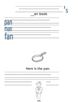 -An Word Family Activities/Literacy Station Ideas