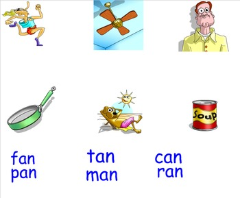 -An Word Family Smartboard Activities