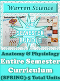*Anatomy & Physiology 2nd Semester Bundle (Spring)-5 Total Units***Save $25