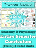 *Anatomy & Physiology Semester Bundle (Fall)-5 Total Units
