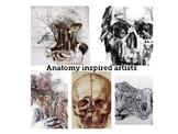 """Anatomy/skulls and bones"" artists to inspire art students"