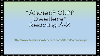 """Ancient Cliff Dwellers"" Choice Board (story from Reading A-Z)"