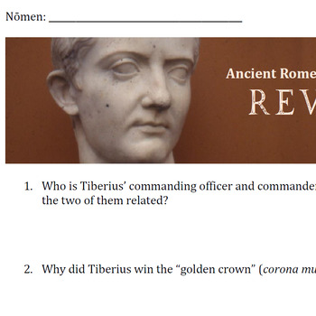 """Ancient Rome: REVOLUTION"" Viewing Guide"