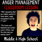 """School Counseling 2-part """"Anger Management"""" lessons for Middle & High School"""