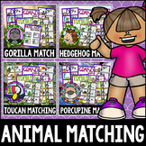 """""""Animal Bundle"""" Music Notes Matching Flashcard Fun! Treble and Bass Clefs"""