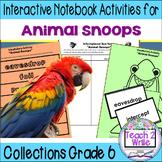 """Animal Snoops"" Interactive Notebook ELA Collections 2 Gr. 6"