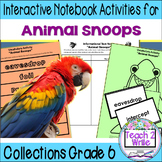 """Animal Snoops"" Interactive Notebook ELA Collections 2 Gr. 6"
