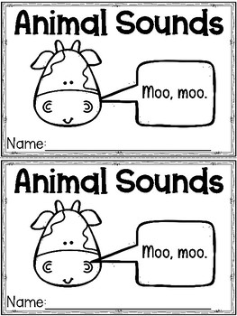 """""""Animal Sounds"""" (Sounds/October Emergent Reader Dollar Deal)"""