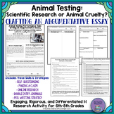 """Animal Testing: Scientific Research or Animal Cruelty?"" Argumentative Essay"