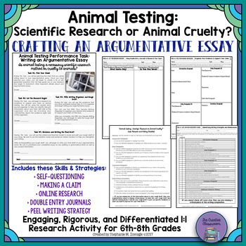 argumentative writing special education teaching resources  argumentative essay animal testing scientific research or animal cruelty argumentative essay ·