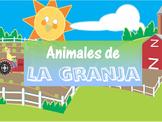 """Animales de la granja"" - Spanish Farm Animals PowerPoint"