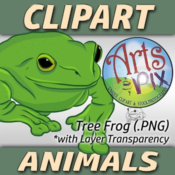 """! """"Animals"""" Clipart - Tree Frog - png"""