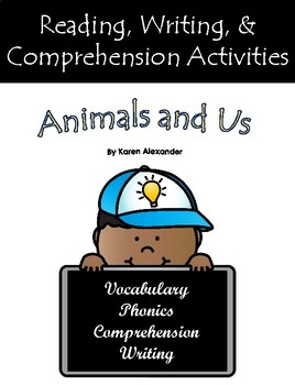 """Animals and Us"" Activities for Guided Reading & Writing"