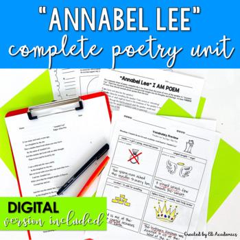 """""""Annabel Lee"""" by Edgar Allan Poe Complete Poetry Unit"""