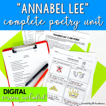 Annabel Lee by Edgar Allan Poe Complete Poetry Unit