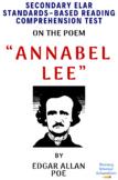 """Annabel Lee"" by Edgar Allan Poe Poetry Reading Comprehension & Analysis Test"