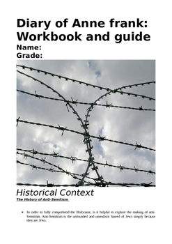 'Anne Frank: Diary of a Young Girl'/The Holocaust (Workbook and Homework Units)