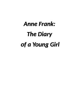 """""""Anne Frank:Diary of a Young Girl"""" chapter questions"""
