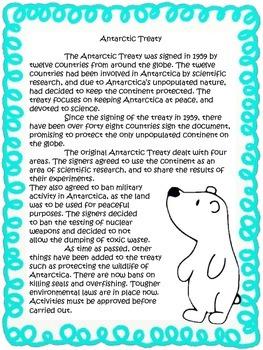 3rd Grade: ANTARCTICA {McMurdo Station and the Antarctic Treaty}