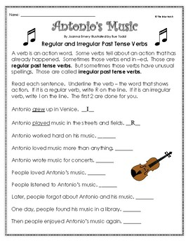 """Antonio's Music"" Guided Reading Program Activities"
