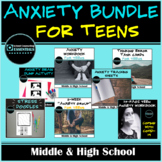 """""""Anxiety"""" Workbook, Activities and Group Counseling Bundle-Middle & High School"""
