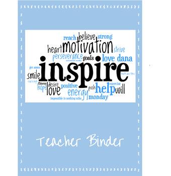 Anytime Teacher Binder