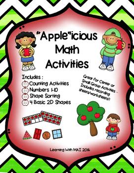 """""""Apple"""" icious Math Activities"""