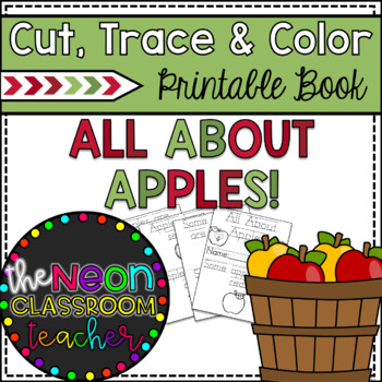 """""""Apples All Around"""" Cut, Trace, and Color Printable Book!"""