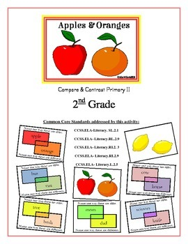 compare and contrast apples and oranges