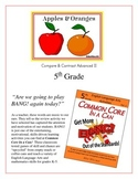 """Apples & Oranges!"" Compare & Contrast 5th Grade Common Core Game Packet"