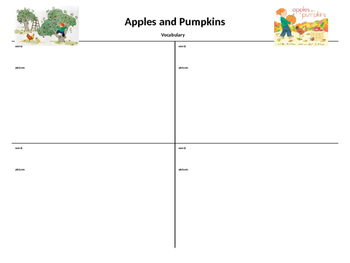 """Apples and Pumpkins"" Graphic Organizers"