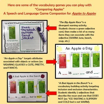 """Comparing Apples"" - An Interactive Game Companion for Vocabulary Intervention"