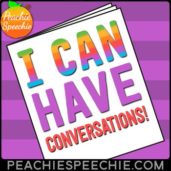 I Can Have Conversations: No Prep Social Language Workbook