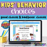 Distance Learning Kids Behavior Choices Boom Cards