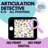 Articulation Detective (K/G) | No Prep No Print Digital