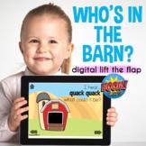 Preschool Farm Language Activity Speech Therapy Boom Cards