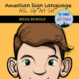 ASL Clip Art Mega Bundle - American Sign Language Pack