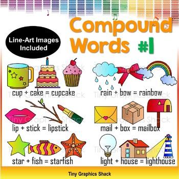 Compound Words Clip Art Set 1
