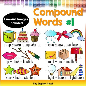 compound words clip art set 1 by tiny graphics shack tpt rh teacherspayteachers com clip art words and images clip art words and signs