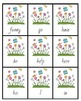 April Showers Bring May Flowers - A Sight Word Game {April