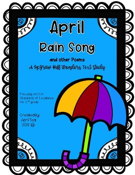 """""""April Rain Song"""" and other Poems A McGraw Hill Wonders Text Study"""