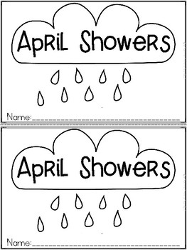 """April Showers"" An April/Spring Emergent Reader and Dollar Deal"